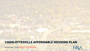 Cover of Draft Affordable Housing Plan